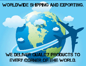 Worldwide Shipping and Export.